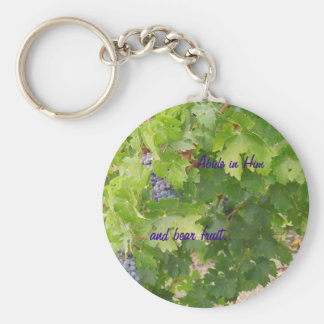 Rotta Dry Farmed Grapes on the Vine Basic Round Button Keychain