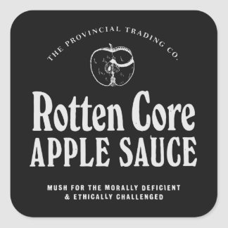 Rotten Core Apple Sauce - apothecary labels Stickers