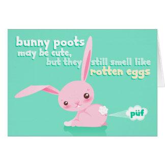 Rotten Eggs - Cute Bunny Poots Custom Card