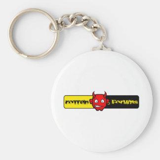 Rotten Forums Logo Basic Round Button Keychain
