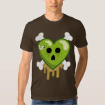 Rotten Heart and Crossbones Cute and Creepy Shirt