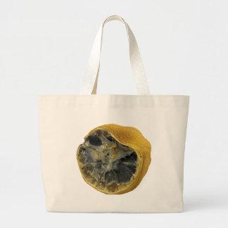 Rotten lemon large tote bag