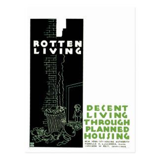Rotten Living Postcard