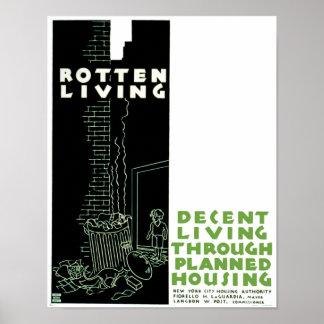Rotten Living Print