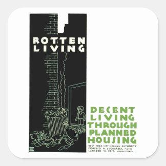 Rotten Living Square Sticker