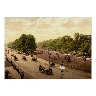 Rotten Row and Hyde Park Corner, London, England Poster