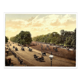 Rotten Row and Hyde Park Corner London England r Post Card
