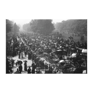 Rotten Row in Hyde Park, London, c.1890 Canvas Print