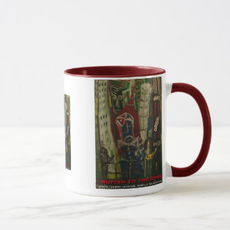 rotten to the core mug