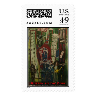 rotten to the core postage stamp