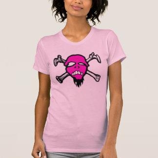 RottenMouth - cráneo rosado para mujer Playera