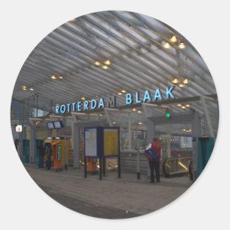 Rotterdam Blaak train station Classic Round Sticker