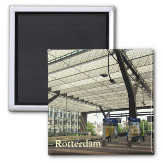 Rotterdam Central Station 2 Inch Square Magnet