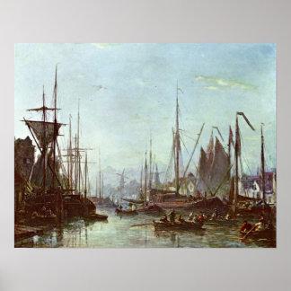 Rotterdam de Johan Barthold Jongkind Póster