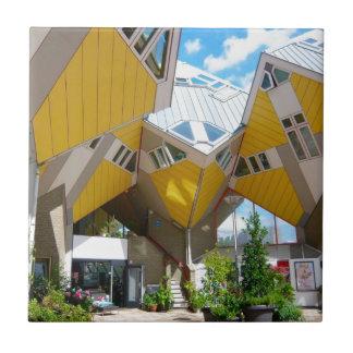 Rotterdam, el cubo azulejo cuadrado pequeño