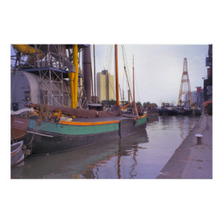 Rotterdam, historic ships, Dutch Sailing barge Poster