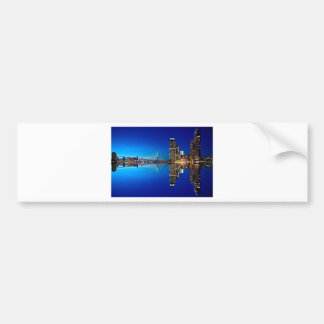Rotterdam Night Skyline Bumper Sticker