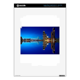 Rotterdam Night Skyline Decals For iPad 3