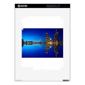 Rotterdam Night Skyline iPad 2 Skins