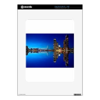 Rotterdam Night Skyline iPad Skin