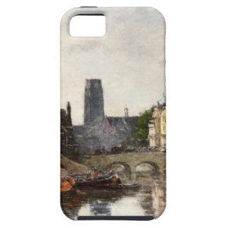 Rotterdam, Pont de la la Bourse de Eugene Boudin iPhone 5 Carcasas