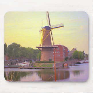 Rotterdam, Schiedam windmill in the old harbour Mouse Pad