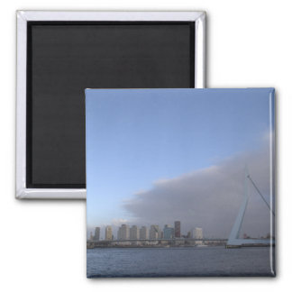 Rotterdam skyline 2 inch square magnet