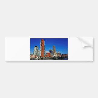 Rotterdam Skyline Bumper Sticker