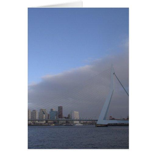 Rotterdam skyline greeting card