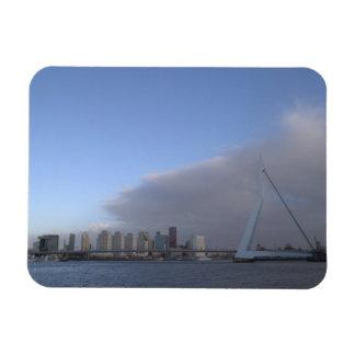 Rotterdam skyline rectangular photo magnet