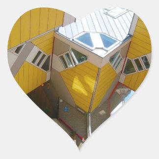 Rotterdam, the Cube Heart Sticker