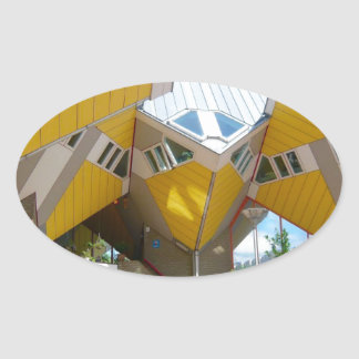 Rotterdam, the Cube Oval Sticker