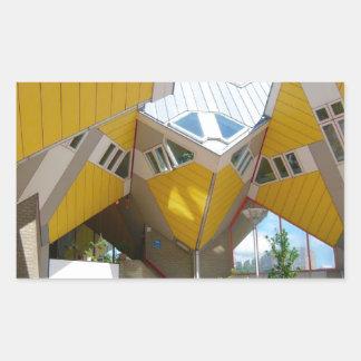 Rotterdam, the Cube Rectangular Sticker