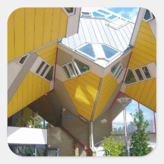 Rotterdam, the Cube Square Sticker