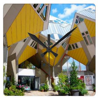 Rotterdam, the Cube Square Wallclocks