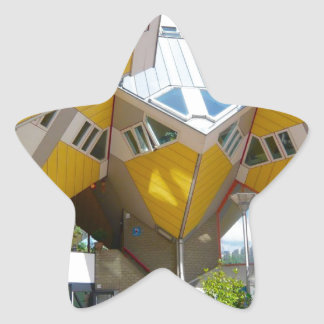 Rotterdam, the Cube Star Sticker