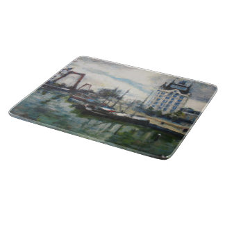 Rotterdam Witte Huis White House Fine-art Painting Cutting Board