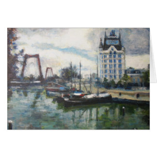Rotterdam Witte Huis White House Impressionist Art Card