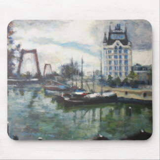 Rotterdam WitteHuis White House Cityscape Painting Mouse Pad