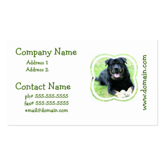 Rottie Business Cards
