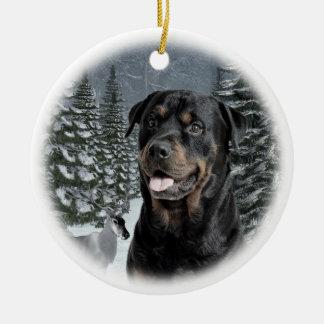 Rottie Christmas Ornament