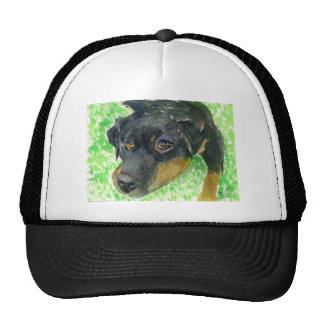 Rottie Looking at You ready to play Trucker Hats