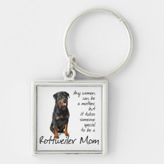 Rottie Mom Keychain