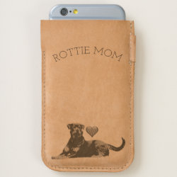 Rottie Mom Rottweiler Dog iPhone Cell Phone Pouch