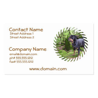 Rottie Pup Business Cards
