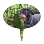 Rottie Pup Cake Toppers