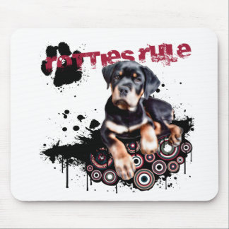 Rotties Rule Mouse Pads