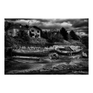 Rotting Boat Carcasses, Fine Art Photograph Poster