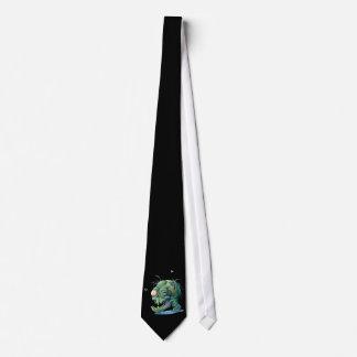 Rotting Zombie Head Neck Tie