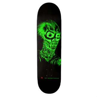 Rotting Zombie necro-green skateboard deck